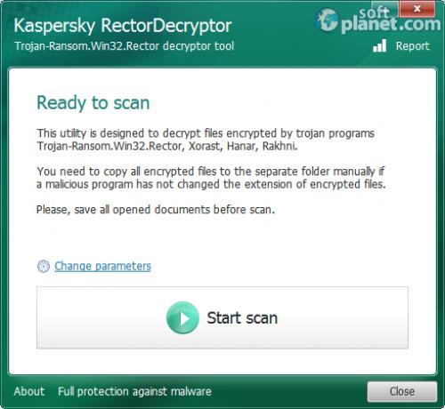 Kaspersky RectorDecrtyptor 2.6.22.0