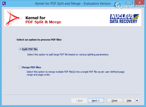 Kernel for PDF Split & Merge 10.05.01