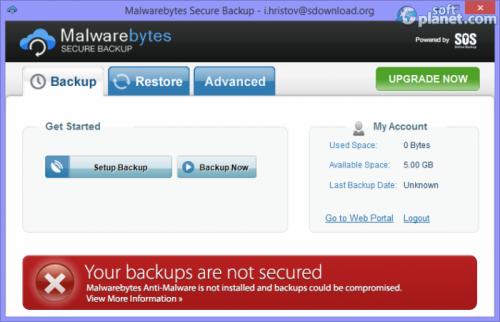 Malwarebytes Secure Backup 1.2.0.0010