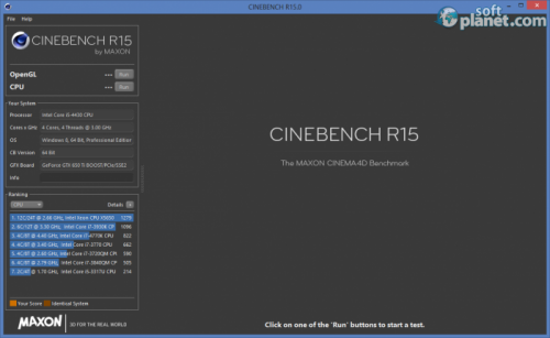 Maxon Cinebench R15