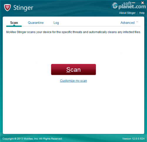 McAfee Stinger Portable 12.1.0.954