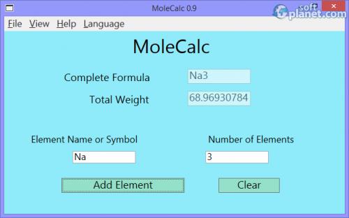 MoleCalc 0.9