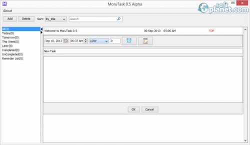 MoruTask 0.5 Alpha