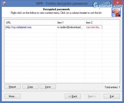 Mozilla Password Recovery 5.6