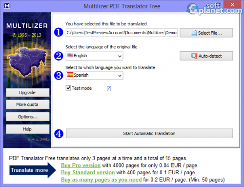 Multilizer PDF Translator 9.4.5.2493