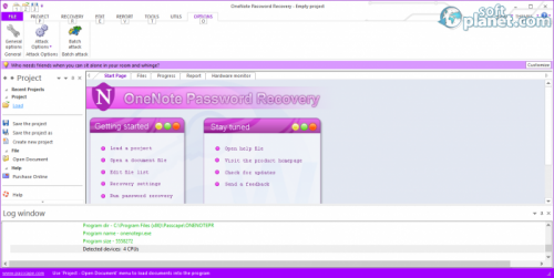 OneNote Password Recovery 1.4.0.61