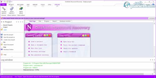 OneNote Password Recovery 1.4.0.61