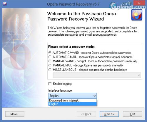 Opera Password Recovery 5.7.0.450