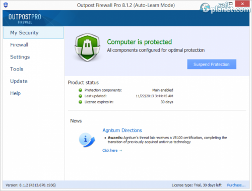 Outpost Firewall Pro 8.1.2
