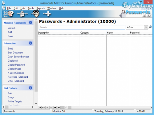 Passwords Max for Groups 5.92 Build 5907