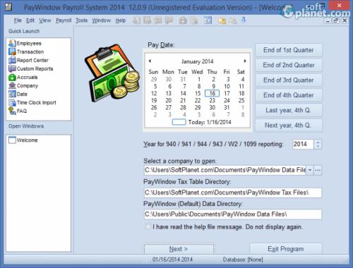 PayWindow Payroll System 2014 12.0