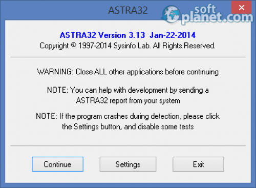 Portable ASTRA32 Advanced System Information Tool 3.13