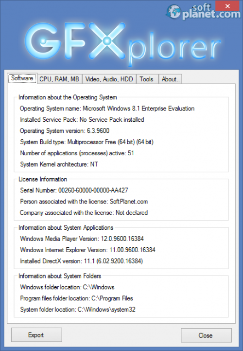 Portable GFXplorer 3.7.0.1050