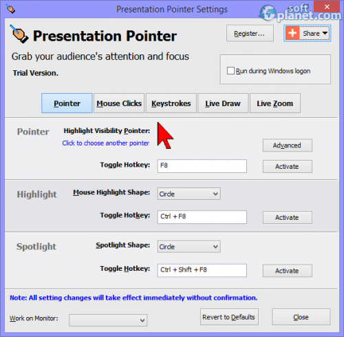 Presentation Pointer 1.4.1