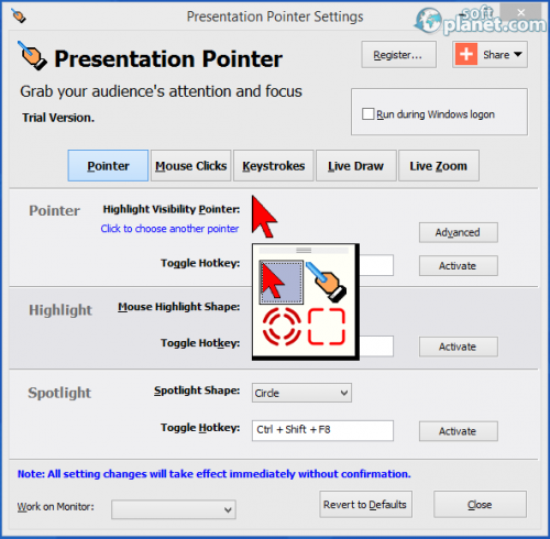 Presentation Pointer Portable 1.4.1