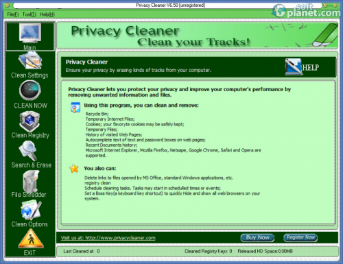 Privacy Cleaner 6.50