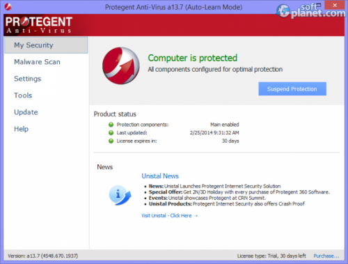 Protegent Anti-Virus a13.7