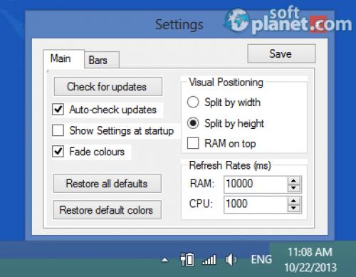 RAM CPU Taskbar 2.1