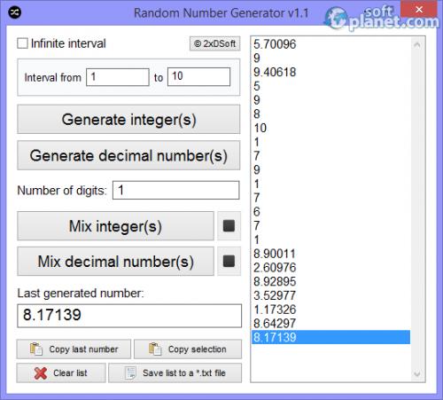 Random Number Generator 1.1