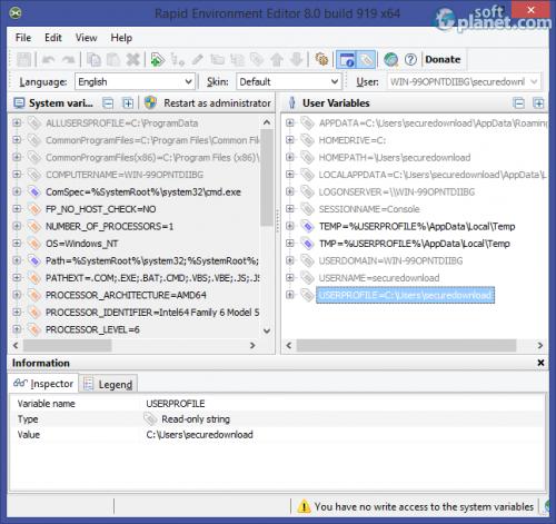 Rapid Environment Editor 8.0 build 919