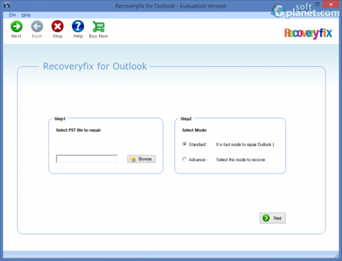 Recoveryfix for Outlook 11.04