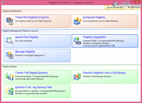 Registry First Aid 9.2.0.2189