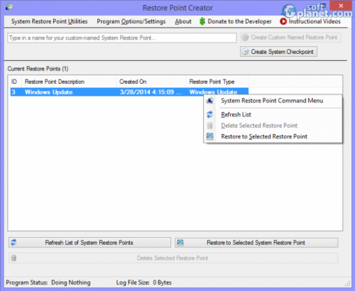 Restore Point Creator 2.2 Build 14