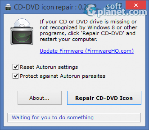 Rizone CD DVD icon repair 0.2.8.280