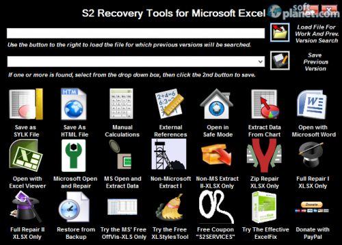 S2 Recovery Tools for Microsoft Excel 4.0.0