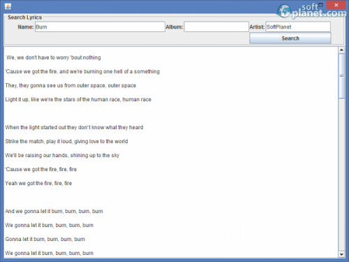 Search Lyrics 1.0