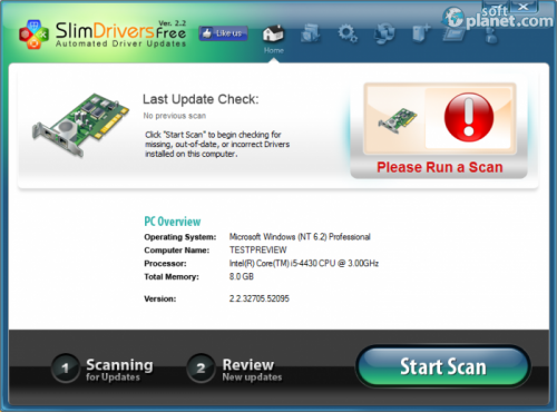 SlimDrivers Free 2.2.45206.63218