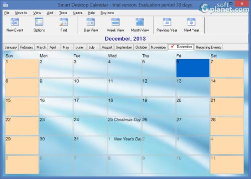 Smart Desktop Calendar 5.12