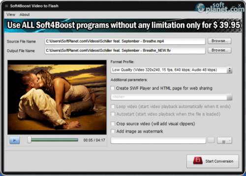 Soft4Boost Video to Flash 3.4.5.251