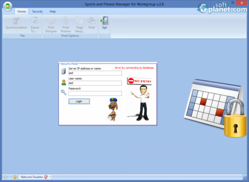 Sports and Fitness Manager for Workgroup 2.6