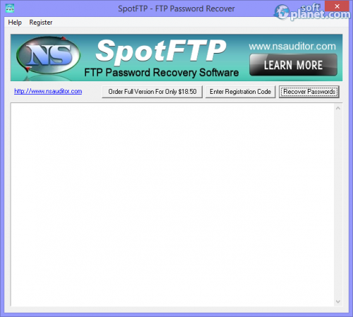 SpotFTP Password Recover 2.4.0