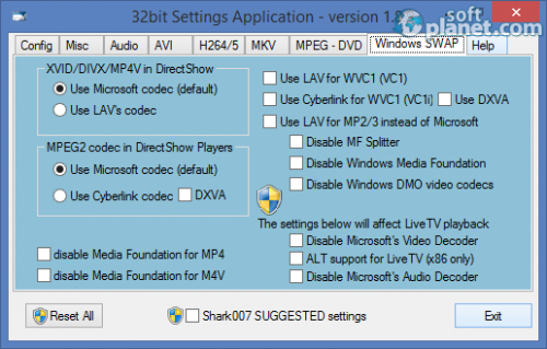 Standard Codecs for Windows 7 and 8 2.5.7