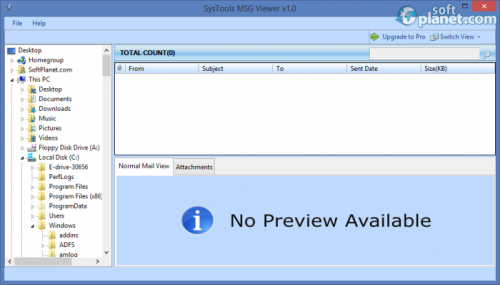 SysTools MSG Viewer 1.0.0.0