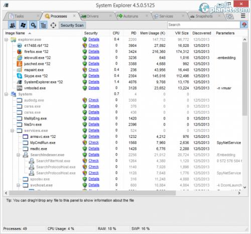 System Explorer 4.5.0.5125