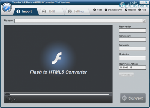 ThunderSoft Flash to HTML5 Converter 2.2.3.1