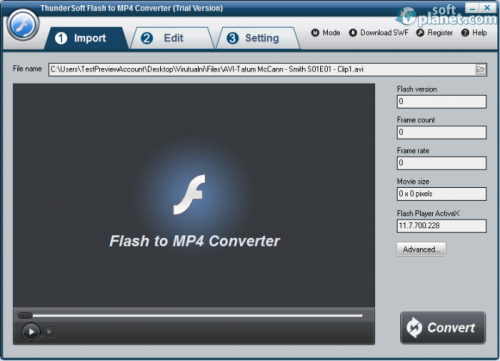 ThunderSoft Flash to MP4 Converter 2.2.0