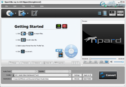Tipard Blu-ray to AVI Ripper 7.2.6