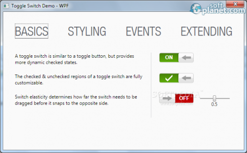 Toggle Switch Control Library 1.1.1