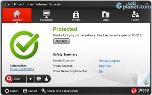 Trend Micro Titanium Internet Security 7.0.1206
