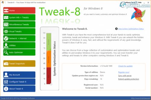 Tweak-8 1.0 build 1050