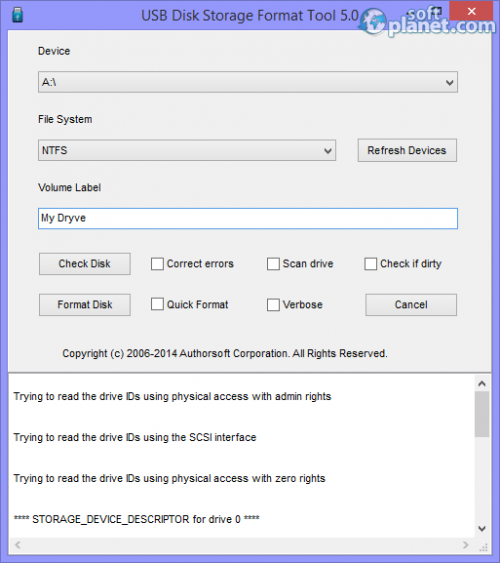 USB Disk Storage Format Tool 5.0 Build 320