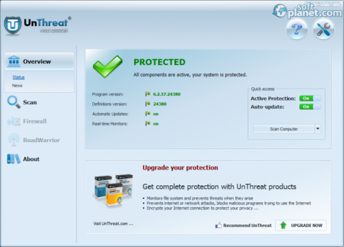 UnThreat AntiVirus Free Edition 6.2