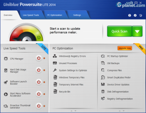 Uniblue PowerSuite Lite 2014 4.3.1.0