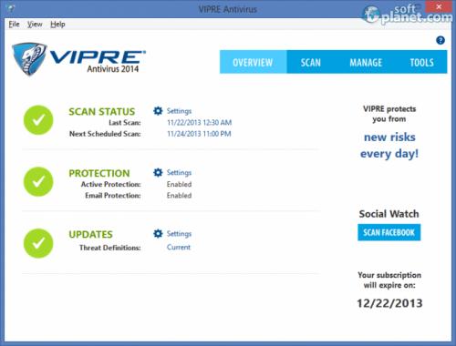 VIPRE Antivirus 2014 7.0.6.2