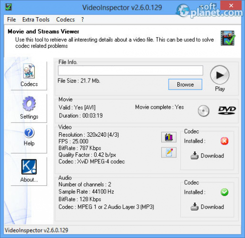 VideoInspector 2.6.0.129