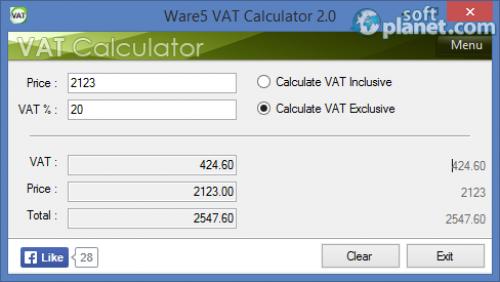 Ware5 VAT Calculator 2.0.0.1